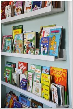 Really easy shelves. Great for the kid's stuff.