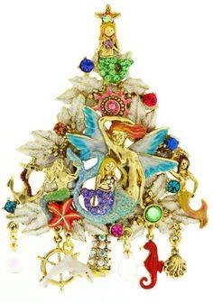 Mermaid Christmas pin, Kirks Folly