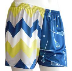 Sublimated Navy Chevron Loose Shorts $30 at www.sportabella.com!