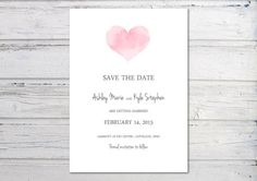 Digital Save the Date Printable Save the Date by PrintsbyJenn