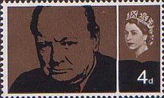 Churchill Commemoration 4d Stamp (1965) Sir Winston Churchill