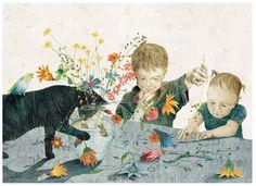 Ando completamente apaixonada pelas imagens de Kaatje Vermeire. Essa ilustradora belga trabalha misturando técnicas de desenho, colagem e p...