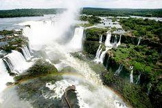 Let's travel the world!: Iguazu Falls a natural wonder.