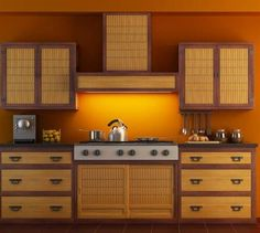Kitchen Elegant Asian Style Kitchens Asian Style Kitchens With Bamboo Kitchen Cabinet Doors