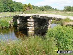 Walk Picture/View: Stone clapper bridge at Postbridge in Dartmoor, Devon, England by Ruth Jackson Devon England, Dartmoor, Wales, Battle, Jackson, Bridge, Stone, Rock, Welsh Country