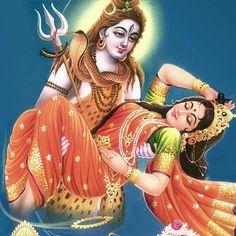 Shiva and Dakshayani (Durga/Sati) Shiva Shakti, Shiva Parvati Images, Shiva Hindu, Durga Images, Hindu Deities, Hindu Art, Shiva Art, Maa Durga Image, Shiva Photos