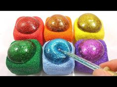 Slime Glue Foam Clay Glitter Water Balloons DIY Learn Colors Slime Combine Toy - YouTube