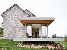 Renovation & extension of a holiday house. Location: Villers-en- Fagne, Belgium; architect: Dehullu Architecten