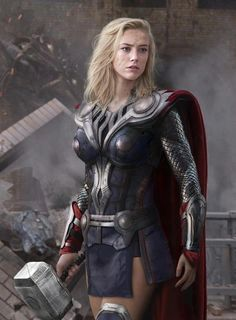 Lady Thor...or that one Asgardian warrior maiden in the comics...