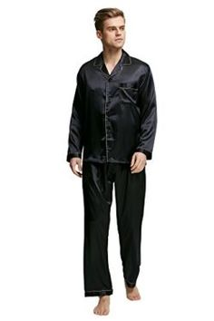 8016fe326f TONY AND CANDICE Men s Sleepwear Classic Satin Pyjama Set