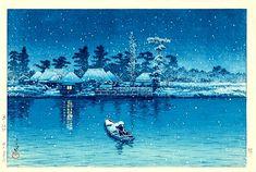 川瀬 巴水 Hasui Kawase『牛堀』(1930)