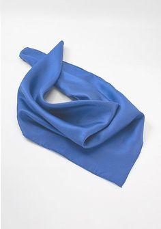 Damentuch blau in Seide
