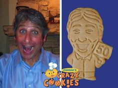 For an unforgettable 50th birthday, order Parker's Crazy Cookies of the man of the hour. If you wish...even the cookies can be surprised! Your guests will love these unique party favors.