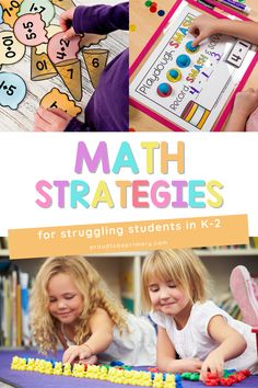 Find helpful math strategies for struggling students in kindergarten, first grade, and second grade. Learn how to teach Math in hands-on ways to increase engagement and understanding. Learn ways to teach important math concepts, make teaching and learning math fun, and provide math instruction. Get all the teaching tips and Math activities you need here! Find ideas for teaching addition, subtraction, patterns, measurement, graphing, and geometry. Build number sense and try math games! Measurement Activities, Kindergarten Activities, Teaching Tips, Teaching Math, Student Learning, Kids Learning, Teaching Addition, Math Manipulatives, Math Strategies