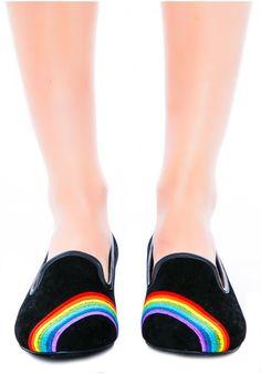 Y.R.U. Rainbow Lavish Flat #cute #kawaii #shoes