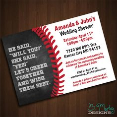 Great Photo of Baseball Wedding Invitations Baseball Wedding Invitations Baseball Wedding Invitations Elegant Amazing Baseball Themed Wedding Unique Wedding Invitation Wording, Wedding Shower Invitations, Printable Wedding Invitations, Invites, Baseball Wedding Shower, Softball Wedding, Couple Shower, Just For You, Baseball Ring