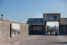 Entrance to Robben Island Prison. The entrance to Robben Island Prison, South Af , Prison, South Africa, Entrance, Maine, Louvre, Island, Stock Photos, Simple, Building
