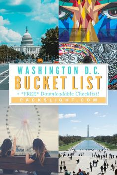bucket list ideen A Washington D. Bucket List: 74 Ways to Experience the Nations Capital Usa Travel Guide, Travel Usa, Travel Guides, Travel Tips, Travel Hacks, Washington Dc Vacation, Places To Travel, Travel Destinations, Las Vegas