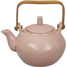 Tokyo Design Studio Textured Dot Teapot - Pink ($42) ❤ liked on Polyvore featuring home, kitchen & dining, teapots, kitchen, fillers, pink, japanese tea pot, pink teapot, polka dot tea pot and japanese teapot