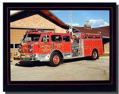 This American La France Red fire truck engine art print poster is ideal for adding a car theme to a room, garage or game room. Every day you'll look at it and smile! Hurry up! Buy this wonderful piece of art for its durable quality with high degree of color accuracy which protects your image for years to come.
