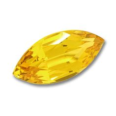 10x5mm Marquise Gem Quality Chatham-Created Cultured Yellow Sapphire Weighs 1.17-1.43 Ct.