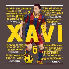 I was commissioned by Bleacher Report UK to design an image for Barcelona legend Xavi's 36th birthday. I was asked to include quotes from some of the players he played with over his exceptional career with Barcelona and the Spanish national team.
