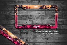 Hawaiian Sunset Plastic License Plate Frame by WholesaleKeychains on Etsy  #keychain #wholesalekeychain #licenceplateframe #moneyclips #trailerhitchlocks #trailerhitchplugs #gift #engraving #caraccessories #ford #toyota #giftshop #cadillac #chevrolet #keyring #dodge #gmc #buick #harleydavidson #nissan #acura #carkeychain #mustang #jaguar #nascar #suzuki #bottleopener #camaro #corvette #autoaccessories