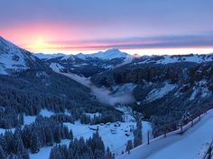 View down towards Morzine from Avoriaz | French Alps | sunset | mountains | portes du soleil | PDS | France