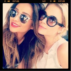 Shay Mitchell and Ashely Benson are ready for summer in their sunnies. #PrettyLittleLiars