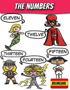 Your kids will learn the numbers in English and Spanish!