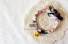 Japanese Style Maneki Neko / Lucky Cat / Dollar Cat / Cat / Dog / Pet Collar - Orange & Black by PinkysFriends, $27.00