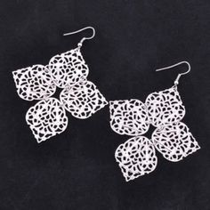diggfind.net - wholesale Fashion easy match thin four-leaves earrings ( silver )