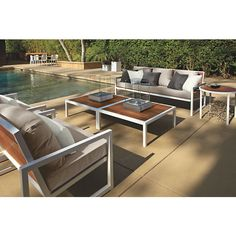 Montego Sofas with Cushions - Montego Collection in Stainless Steel - Outdoor - Room & Board