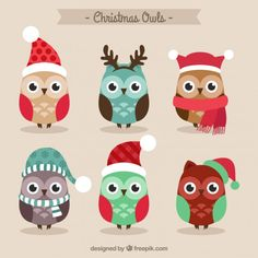 More than a million free vectors, PSD, photos and free icons. Exclusive freebies and all graphic resources that you need for your projects Christmas Owls, Christmas Mood, Christmas Gift Tags, Christmas Decorations, Christmas Ornaments, Xmas Crafts, Crafts For Kids, Adobe Illustrator, Owl Themed Parties