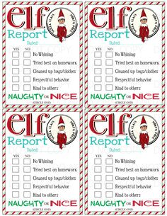This listing is for a Print it/Do-It-Yourself Elf on the Shelf Elf Report!! 4 reports on one sheet - simply print and cut them out! You will