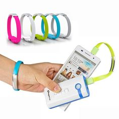 Wrist Bracelet Charging Mobile Phone Cables Micro USB Data Cable Charger For Samsung Galaxy S3 S4 Note For iPhone 5 5s 6s 6 Plus