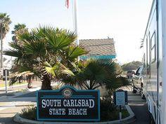 Camping at South Carlsbad State Beach.