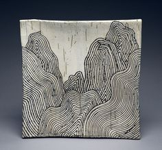 Harris Deller ~ I really think this level of detail on ceramic pottery pieces is stunning. Clay Tiles, Ceramic Clay, Sgraffito, Slab Pottery, Ceramic Pottery, Sculptures Céramiques, Ceramics Projects, Pottery Designs, Japanese Pottery
