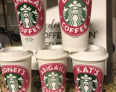 Personalized Starbucks Cup BPA FREE reusable tumbler / coffee / wedding / gift / birthday / party / travel / bridesmaid / your own text Sweet 16 Birthday Cake, Cute Birthday Gift, Birthday Cup, Starbucks Tumbler Cup, Starbucks Logo, Starbucks Coffee, Bridesmaid Cups, Starbucks Locations, Personalized Cups