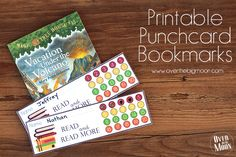 These FREE Printable Punchcard Bookmarks are a great way to help motivate your kids to do their daily required reading! Each bookmark lasts approx 1 month!
