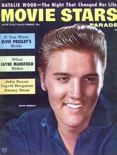 "Elvis Presley on the cover of ""Movie Stars Parade"", USA, March 1957."
