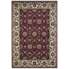 Kas Rugs Classic Kashan Red/Ivory 3 ft. 3 in. x 4 ft. 11 in. Area Rug-CAM730633X411 at The Home Depot