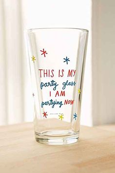 ADAMJK X UO Party Pint Glass