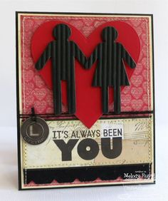 card with heart hearts Lovey Dovey Sentiments, Heart STAX Die-namics, Boy Meets Girl Die-namics - Melody Rupple Love Tag, Love Cards, Valentine Day Cards, Valentines, Boy Meets Girl, Heart Day, Wedding Anniversary Cards, Mft Stamps, All Paper