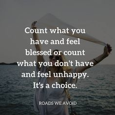 so true. Do not count others blessings