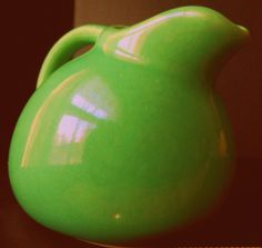 Vintage Ball Pitcher Pottery Creamer  1940's by LootByLouise, $18.99