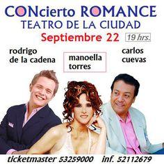Manoella Torres, Carlos Cuevas y Rodrigo de la Cadena en el Teatro de la Ciudad