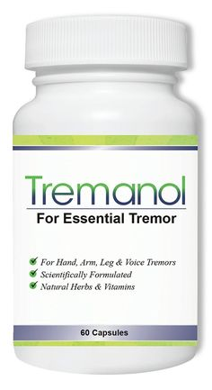 Tremanol – All Natural Essential Tremor Supplement - Provides Long-Term Herbal Relief to Reduce and Soothe Shaky Hands, Arm, Leg,