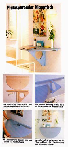 wandklapptisch selber bauen pinterest. Black Bedroom Furniture Sets. Home Design Ideas