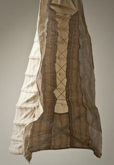 Woman's Bustle England, circa 1885 Costumes; underwear (lower body) Cotton twill, cotton-braid-covered steel, and cotton-braid cord